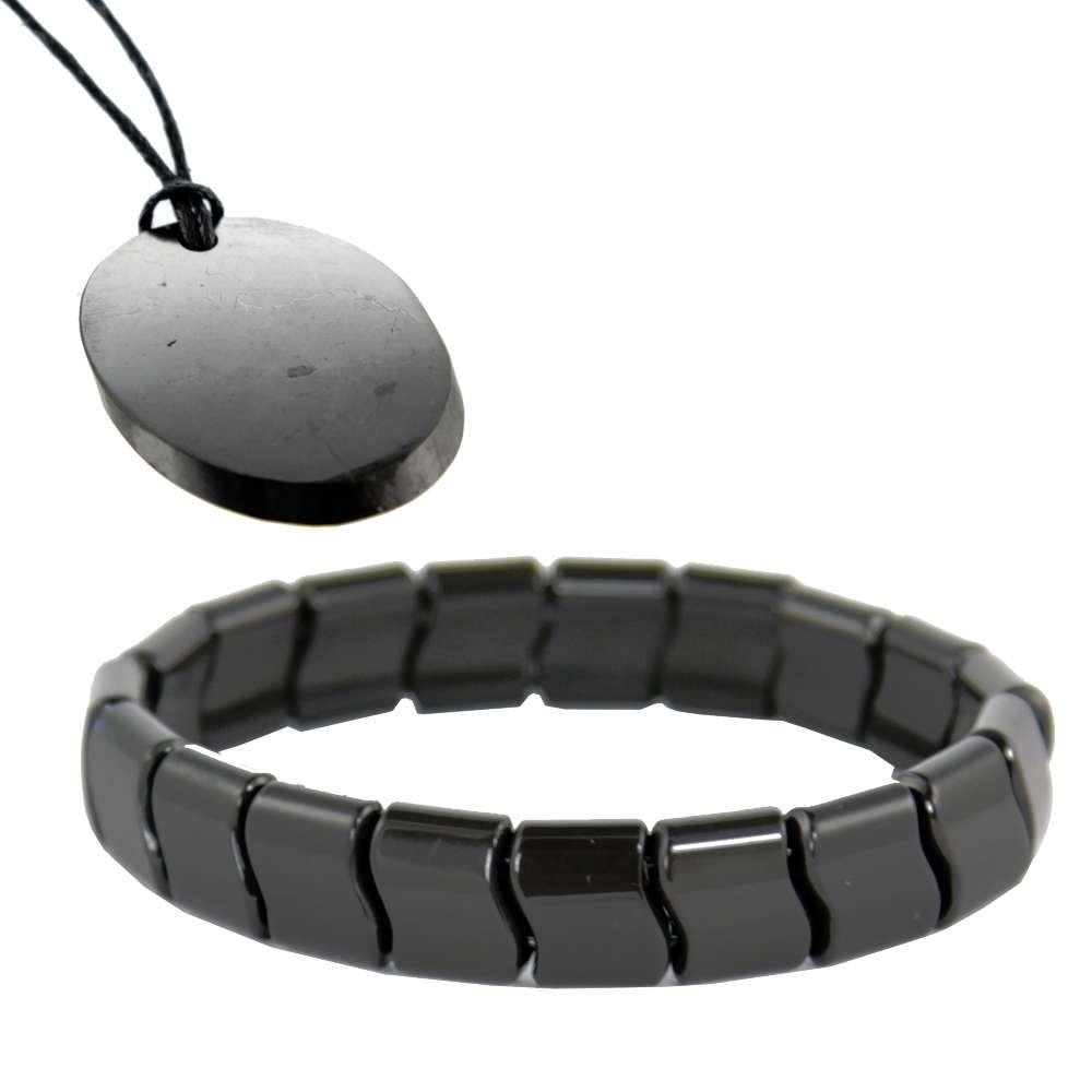 Iyashi Scalar Energy Bracelet + Shieldite EMF Protection Pendant