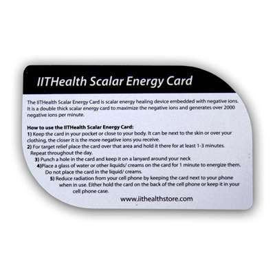 IITHealth Scalar Energy Card (Bio Energy + Negative Ion Card)